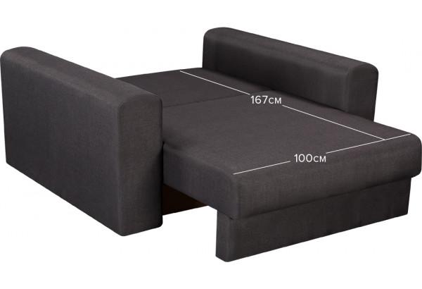 Кресло тканевое Медисон Вариант №1 100 см тёмно-серый (Рогожка) - фото 3