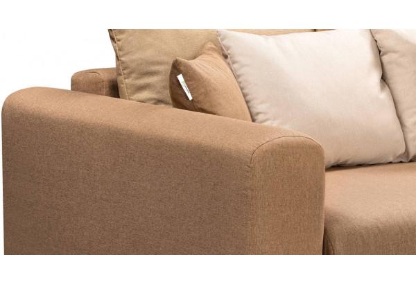Диван тканевый прямой Медисон Вариант №4 коричневый (Рогожка) - фото 7