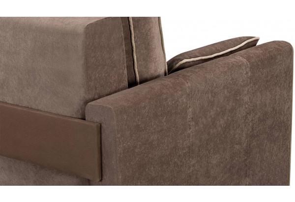 Диван тканевый прямой Римини темно-коричневый (Вельвет) - фото 7