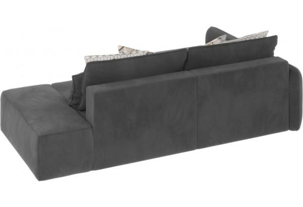 Диван тканевый угловой Портленд вариант №3 серый (Микровелюр, левый) - фото 3
