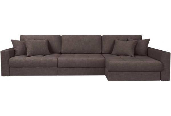 Модульный диван Брайтон вариант №3 графитовый (Рогожка) - фото 4