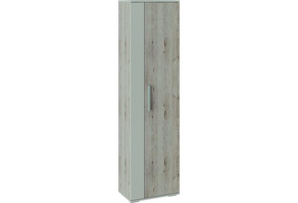 Шкаф распашной однодверный Нуар (дуб бонифацио/бежевый) - фото 1