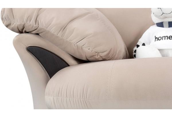 Кресло тканевое Ланкастер бежевый (Велюр) - фото 5