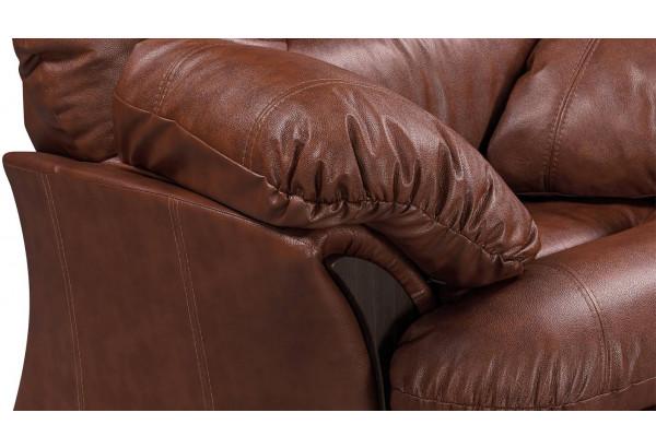 Кресло кожаное Ланкастер Коричневый (Кожаное изделие) - фото 5