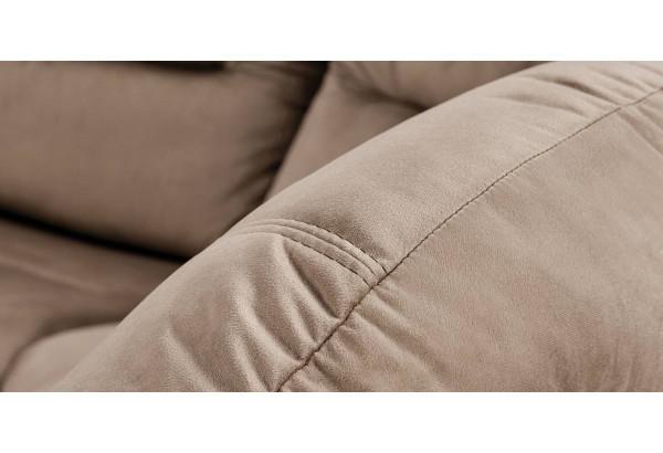 Диван тканевый угловой Ланкастер коричневый (Велюр, правый) - фото 9