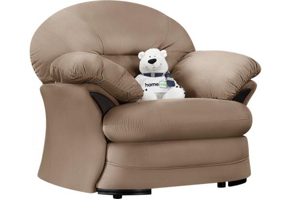Кресло тканевое Ланкастер коричневый (Велюр) - фото 1