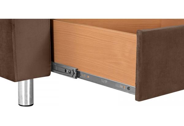 Кресло тканевое Камелот темно-коричневый (Велюр) - фото 4
