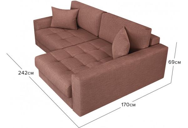 Модульный диван Брайтон вариант №2 розовый (Рогожка) - фото 2
