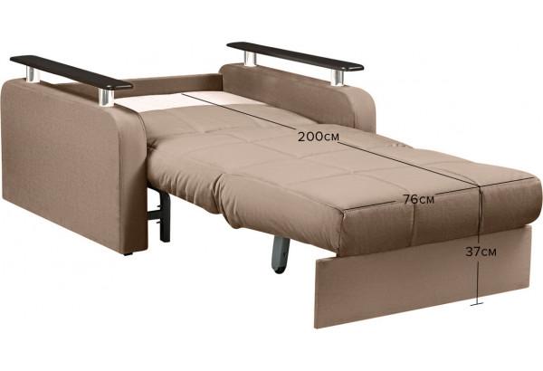 Кресло тканевое Денвер коричневый (Велюр) - фото 3