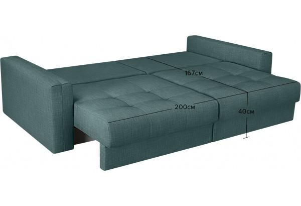 Модульный диван Брайтон вариант №1 голубой (Рогожка) - фото 3