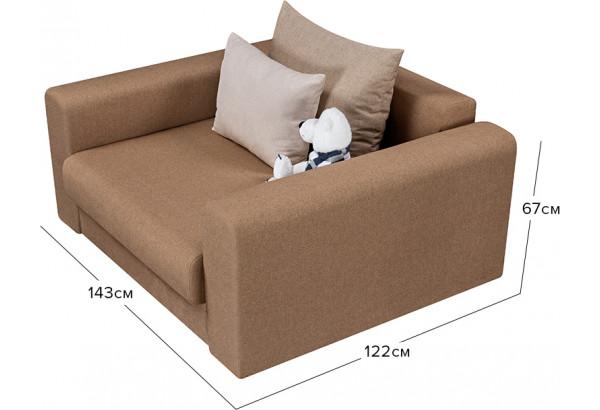 Кресло тканевое Медисон Вариант №1 100 см коричневый (Рогожка) - фото 3
