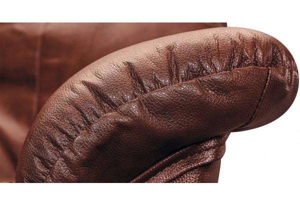Диван кожаный прямой Женева Коричневый (Кожаное изделие, с механизмом) - фото 7