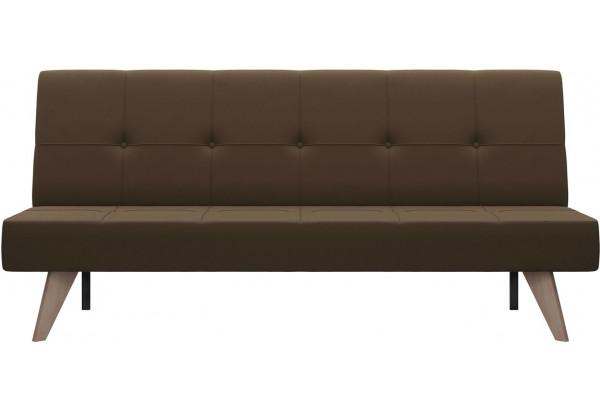 Диван тканевый прямой Касабланка тёмно-коричневый (Рогожка) - фото 2