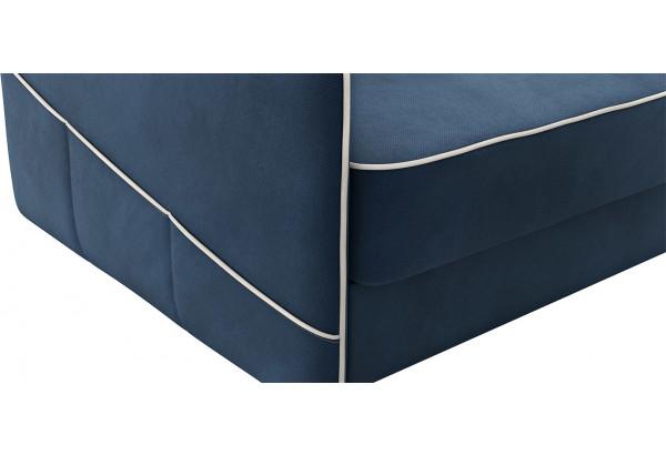 Диван тканевый прямой Слим тёмно-синий (Велюр) - фото 7