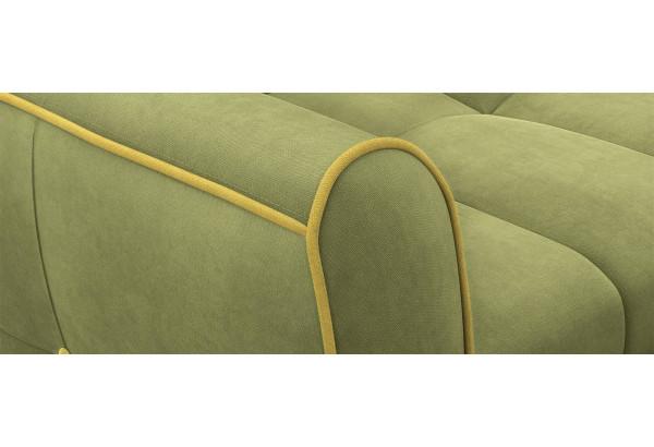Диван тканевый прямой Флэтфорд-2 140 см фисташковый/желтый (Микровелюр) - фото 5