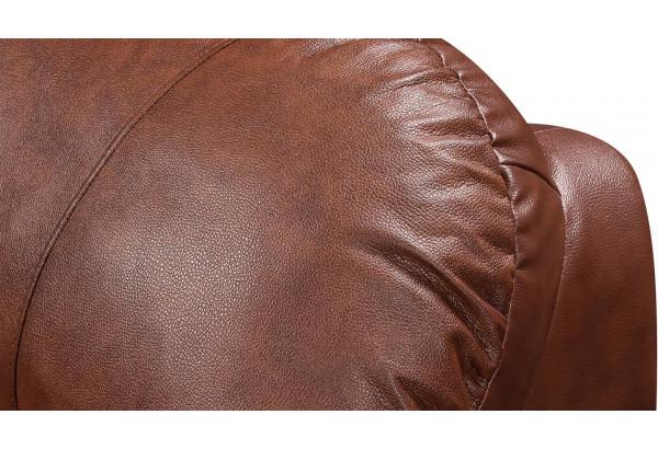 Диван кожаный угловой Эвита Коричневый (Кожаное изделие, правый) - фото 8