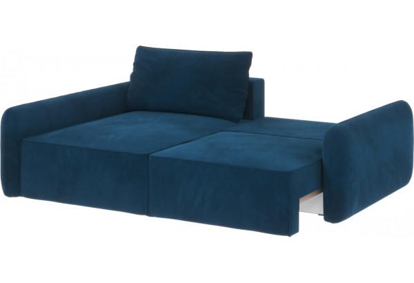 Диван тканевый угловой Портленд вариант №4 светло-синий (Микровелюр, левый) - фото 2