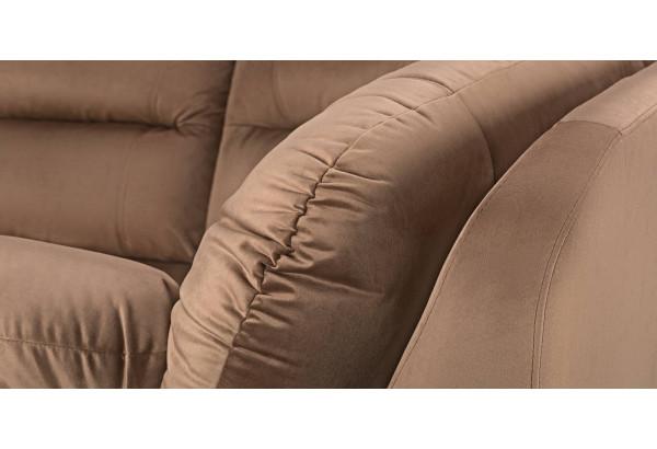 Диван тканевый угловой Бристоль коричневый (Велюр, правый) - фото 8