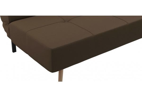 Диван тканевый прямой Касабланка тёмно-коричневый (Рогожка) - фото 7