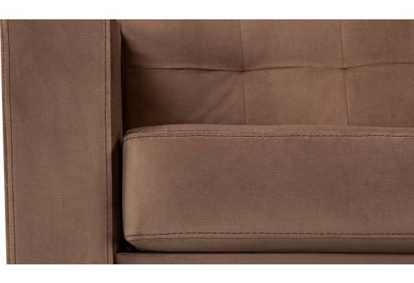 Диван тканевый прямой Камелот коричневый (Велюр) - фото 8