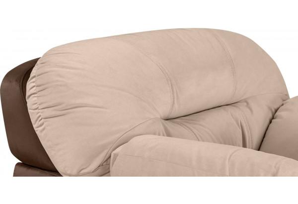 Кресло тканевое Бристоль бежевый/коричневый (Велюр) - фото 4