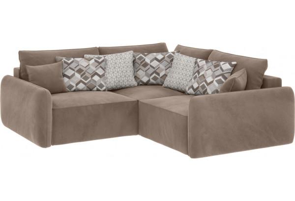 Модульный диван Портленд вариант №6 тёмно-бежевый (Микровелюр) - фото 1