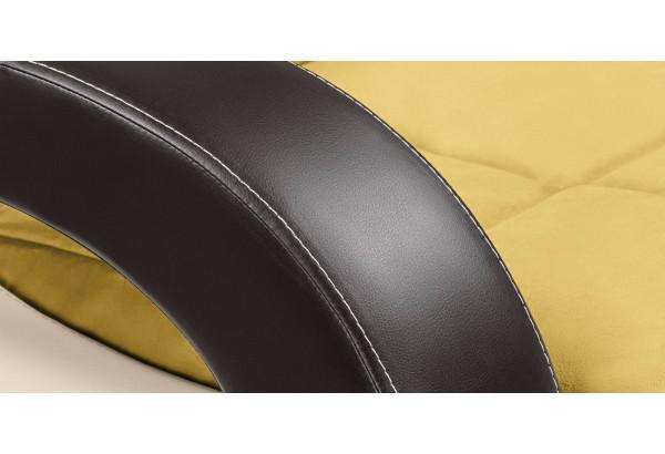 Кресло тканевое Мадрид оливковый (Велюр + Экокожа) - фото 8