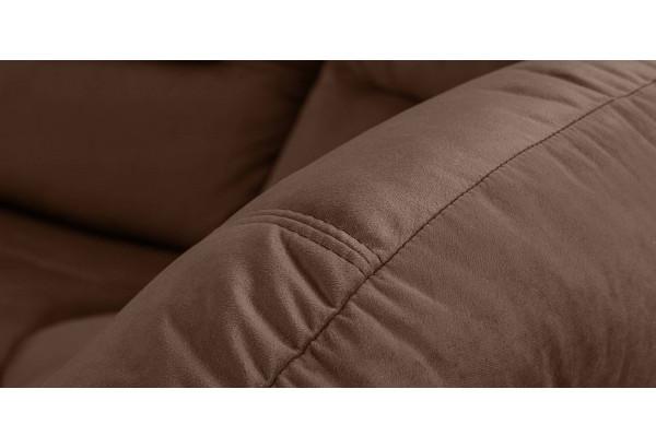 Диван тканевый угловой Ланкастер темно-коричневый (Велюр, правый) - фото 5