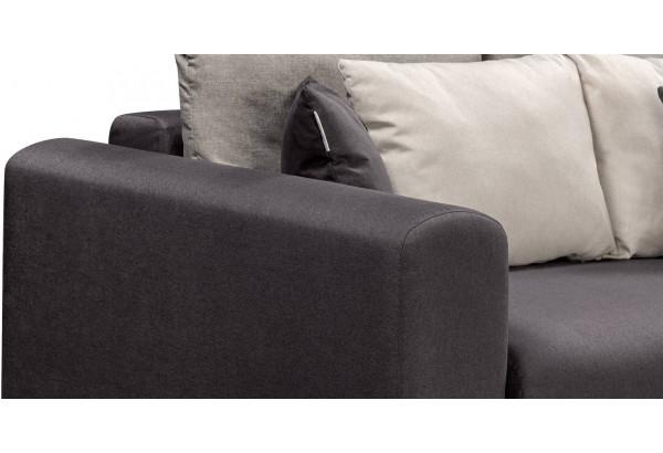 Диван тканевый прямой Медисон Вариант №4 темно-серый (Рогожка) - фото 8