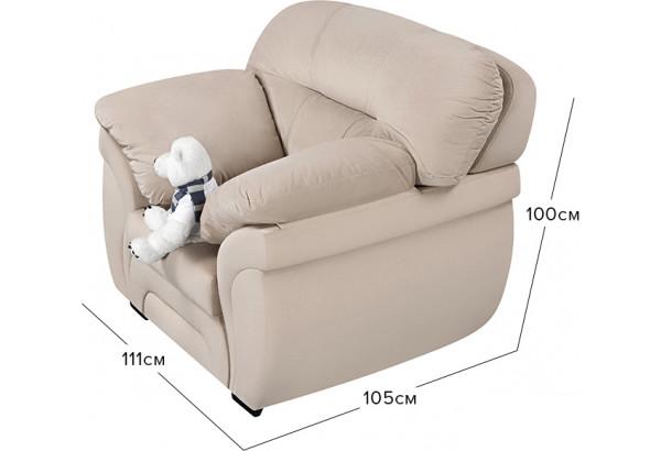 Кресло тканевое Бристоль бежевый (Велюр) - фото 2