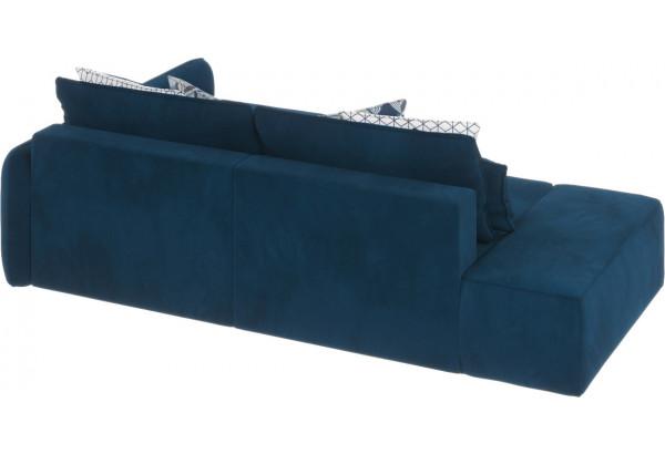 Диван тканевый угловой Портленд вариант №3 светло-синий (Микровелюр, правый) - фото 4