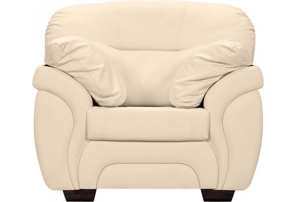Кресло кожаное Бристоль Бежевый (Кожаное изделие) - фото 2