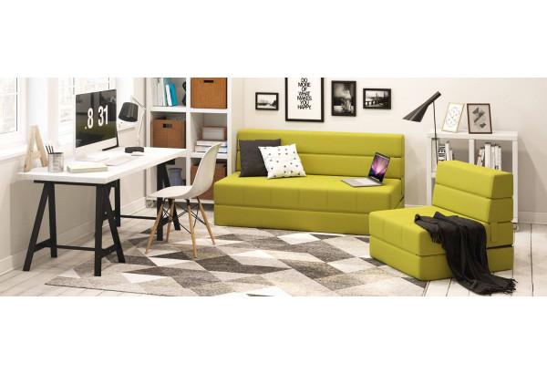 Кресло тканевое Форест зеленый (Рогожка) - фото 10