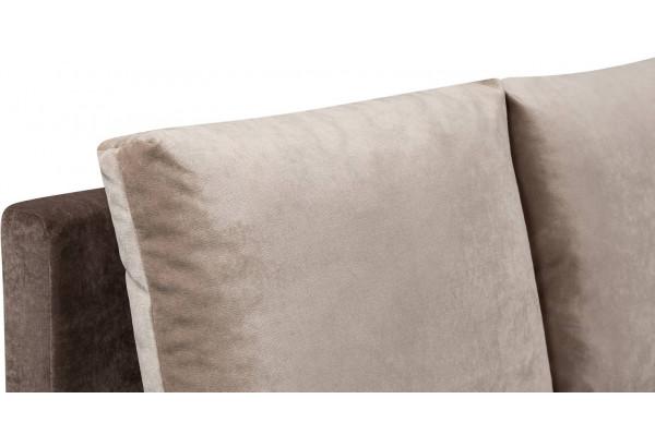 Диван тканевый угловой Каир светло-коричневый (Вельвет) - фото 9