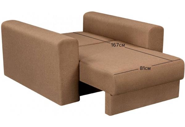 Кресло тканевое Медисон Вариант №2 80 см коричневый (Рогожка) - фото 3