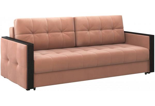 Диван тканевый прямой Валенсия-1 розовый (Велюр) - фото 1