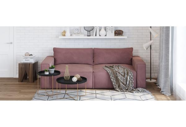 Диван тканевый прямой Корсо вариант №1 розово-серый (Велюр) - фото 8