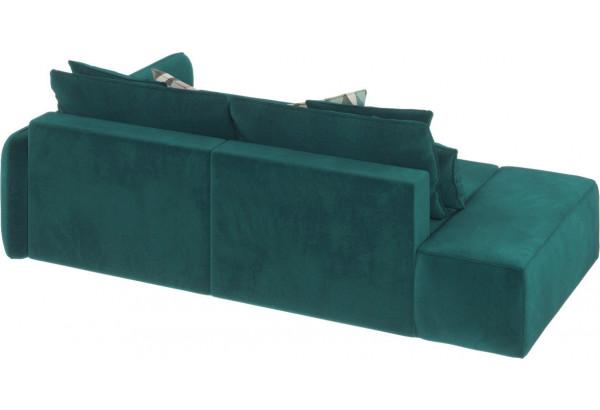 Диван тканевый угловой Портленд вариант №3 изумрудный (Микровелюр, правый) - фото 5