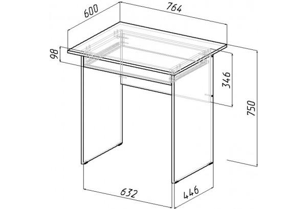 Письменный стол Харви вариант №3 (венге/дуб молочный) - фото 3