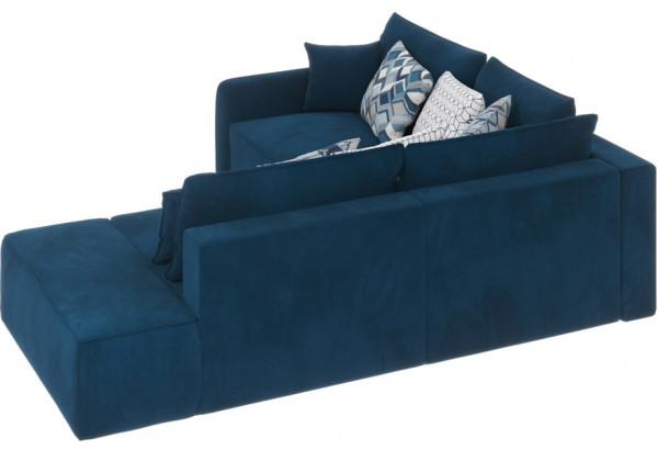 Диван тканевый угловой Портленд вариант №1 светло-синий (Микровелюр, левый) - фото 2