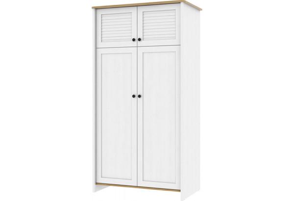 Шкаф распашной двухдверный Тиффани (дубнебраска/белый) - фото 1