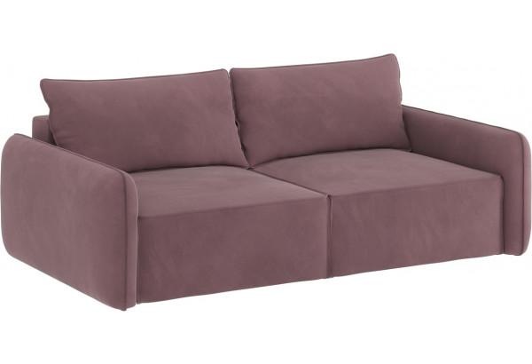 Диван тканевый прямой Портленд вариант №7 розово-серый (Велюр) - фото 2