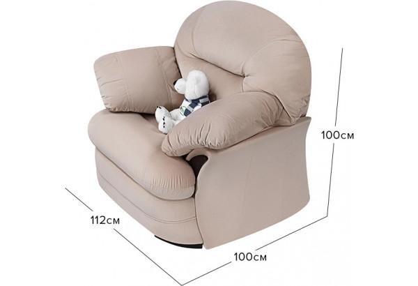 Кресло тканевое Ланкастер бежевый (Велюр) - фото 2