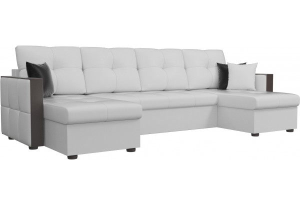 П-образный диван Валенсия Белый (Экокожа) - фото 1