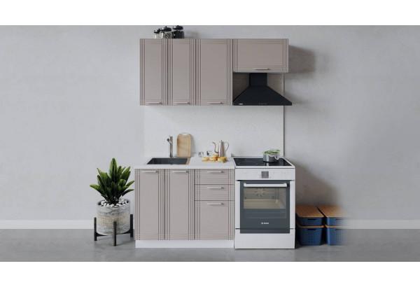 Кухонный гарнитур «Ольга» длиной 160 см (Белый/Кремовый) - фото 1
