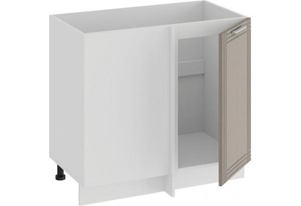 Шкаф напольный угловой «Ольга» (Белый/Кремовый) - фото 2