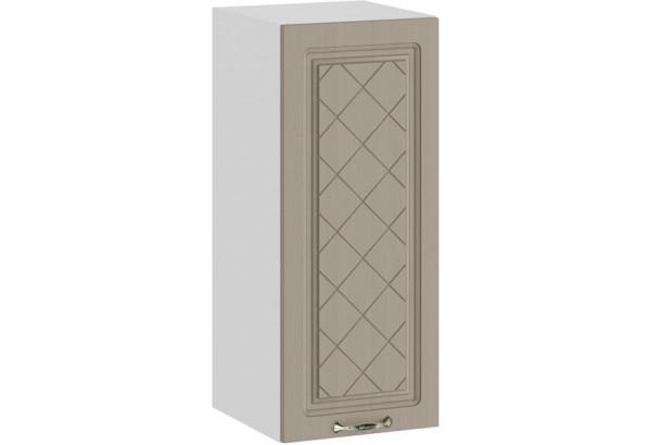 Шкаф навесной c одной дверью «Бьянка» (Белый/Дуб кофе) - фото 1