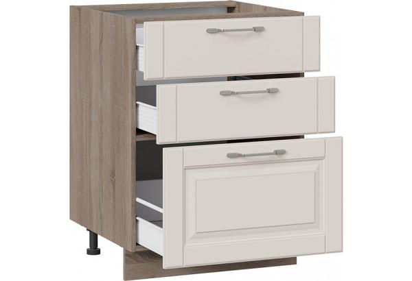Шкаф напольный с 3-мя ящиками (СКАЙ (Бежевый софт)) - фото 2