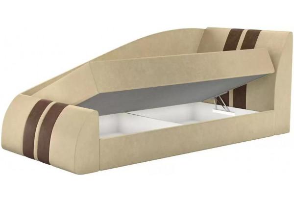 Детская кровать Мустанг Бежевый (Микровельвет) - фото 2