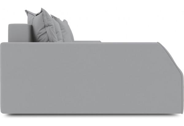 Диван угловой левый «Люксор Slim Т2» (Poseidon Grey (иск.замша) серый) - фото 5